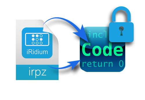 Сейчас вы сможете закодировать файлы проектов iRidium